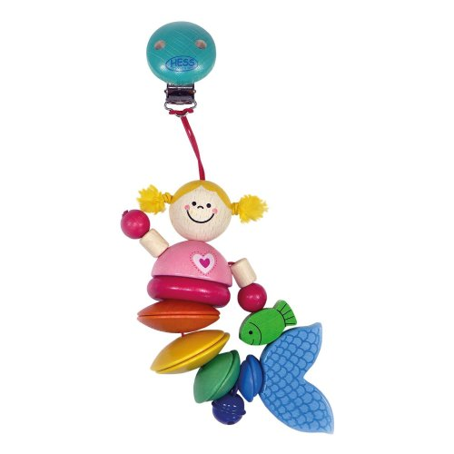 Hess Wooden Mermaid Clip-on-Toy, 9.5 cm