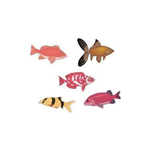 5 X Tropical Fish Stickers Tiles Bathroom Set 7F