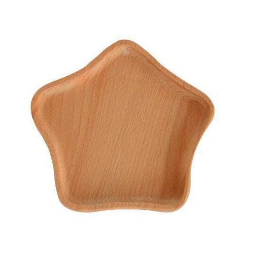 Wooden Dinnerware Fruit/ Meat/ Bread Plate Wooden Dish  15.8 X 15 CM