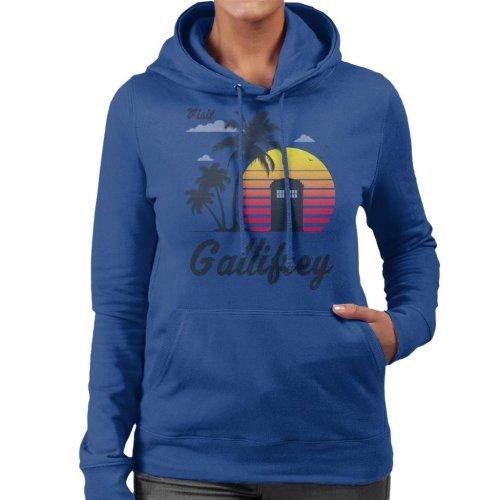 Retro Visit Gallifrey Doctor Who Women's Hooded Sweatshirt