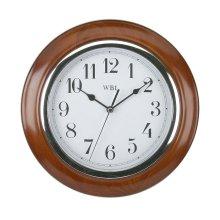 Widdop Mahogany Col Quartz Wood Wall Clock - 25cm