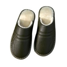 Couple Cotton Slippers Men Waterproof Non-slip Slippers Thick Slippers Armygreen