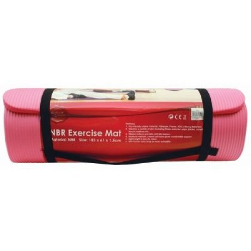 183 X 61 X 1.5cm Nbr Exercise Mat - Pink - 183x61x Yoga Slip Resistant - 183x61x1.5cm Pink Yoga Slip Resistant Eco-friendly Exercise Fitness Yoga Mat