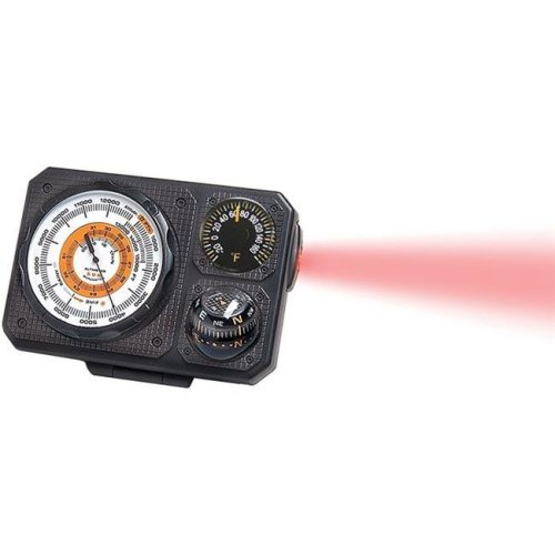 Sun 370715 Six-Function Dashboard Altimeter Barometer Perfect for Car