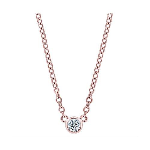 1.5 Carat Diamond Yards 16 Or 18 Pendant Necklace Rose Gold Yard Bezels Set