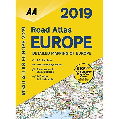 Road Atlas Europe 2019 SP (AA Road Atlas Europe)