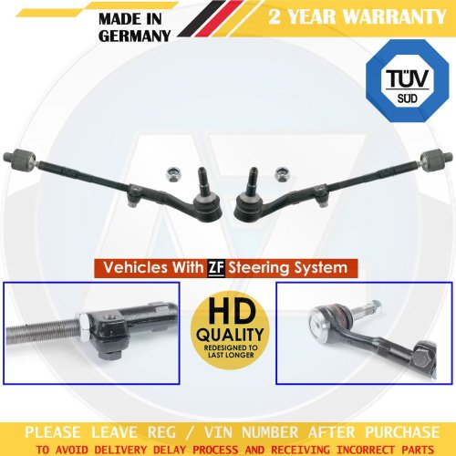 FOR BMW 1 SERIES E81 E82 E87 E88 FRONT INNER OUTER TRACK TIE RODS ENDS ASSEMBLY