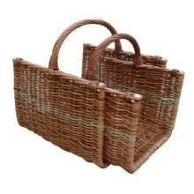 Set of 2 Heavy Duty Open Ended Log Baskets