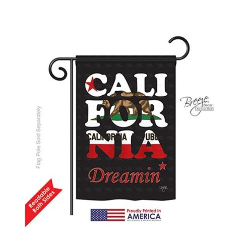 Breeze Decor 58176 States California Dreamin 2-Sided Impression Garden Flag - 13 x 18.5 in.