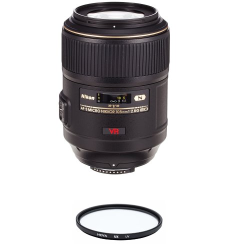 NIKON AF-S 105MM F2.8G IF-ED VR Micro + HOYA UX UV 62mm Filter
