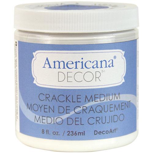Americana Decor Crackle Medium 8oz-Clear