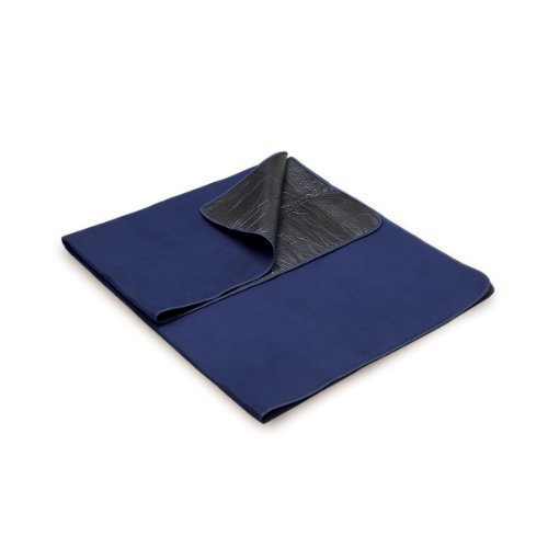 Picnic Time Outdoor Picnic Blanket Tote Navy