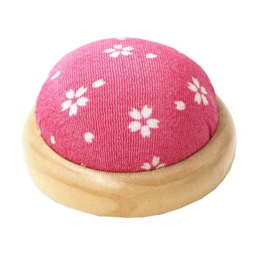Set of 2 Pin Cushions for Sewing with Wood Base - 05