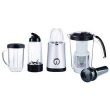 Kingavon Jug Blender, 220 W, Silver -  jug blender smoothie maker juicer grinder 4 1 multifunctional mixer silver large fruit 4in1 food 220w