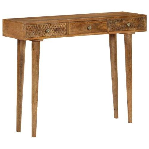 vidaXL Solid Mango Wood Console Table 102x30x79cm Entryway Display Stand Desk