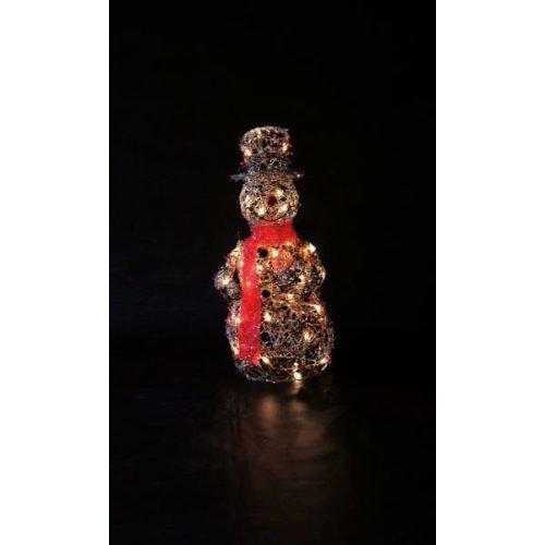 Twig & Berry Snowman Indoor Mains Powered Christmas Xmas Figurine 70cm