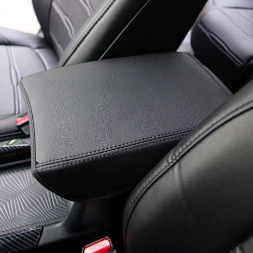 Kust fsx3853w Car Armrest Box Cover,Automobile Cushion Auto Central Console Armrest Box Cover Armrest Cover Saver,1pcs Auto Protective Cover(Black)
