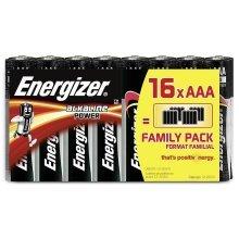 16 x Energizer AAA Alkaline Power LR03 Batteries