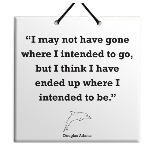 Douglas Adams - Quote Ceramic Wall Hanging Plaque TILE Home Decor Gift Sign New
