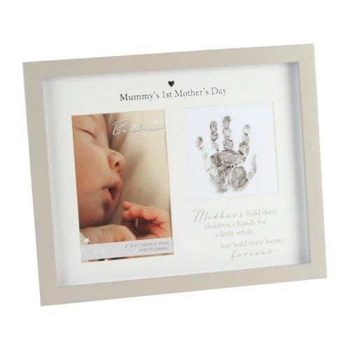 Bambino Unisex Handprint Photo Frame & Ink Pad – Mummy's 1st Mother's Day