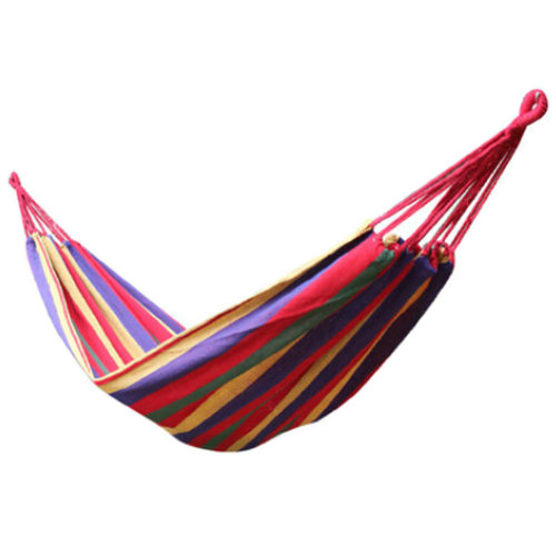 Multifunctional Camping Hammock Hanging Bed Single Size[2*0.8m] Colourful
