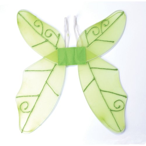Green Ladies Butterfly Wings -  wings fancy dress butterfly green adult accessory fairy FANCY DRESS BUTTERFLY WINGS GREEN TINKERBELL FAIRY