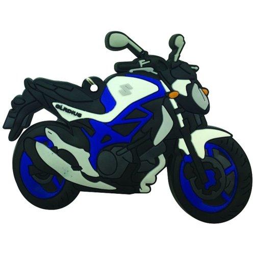 Suzuki Gladius SFV 650 rubber key ring motorbike gift chain keyring