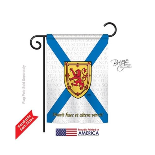 Breeze Decor 58187 Canada Provinces Nova Scotia 2-Sided Impression Garden Flag - 13 x 18.5 in.