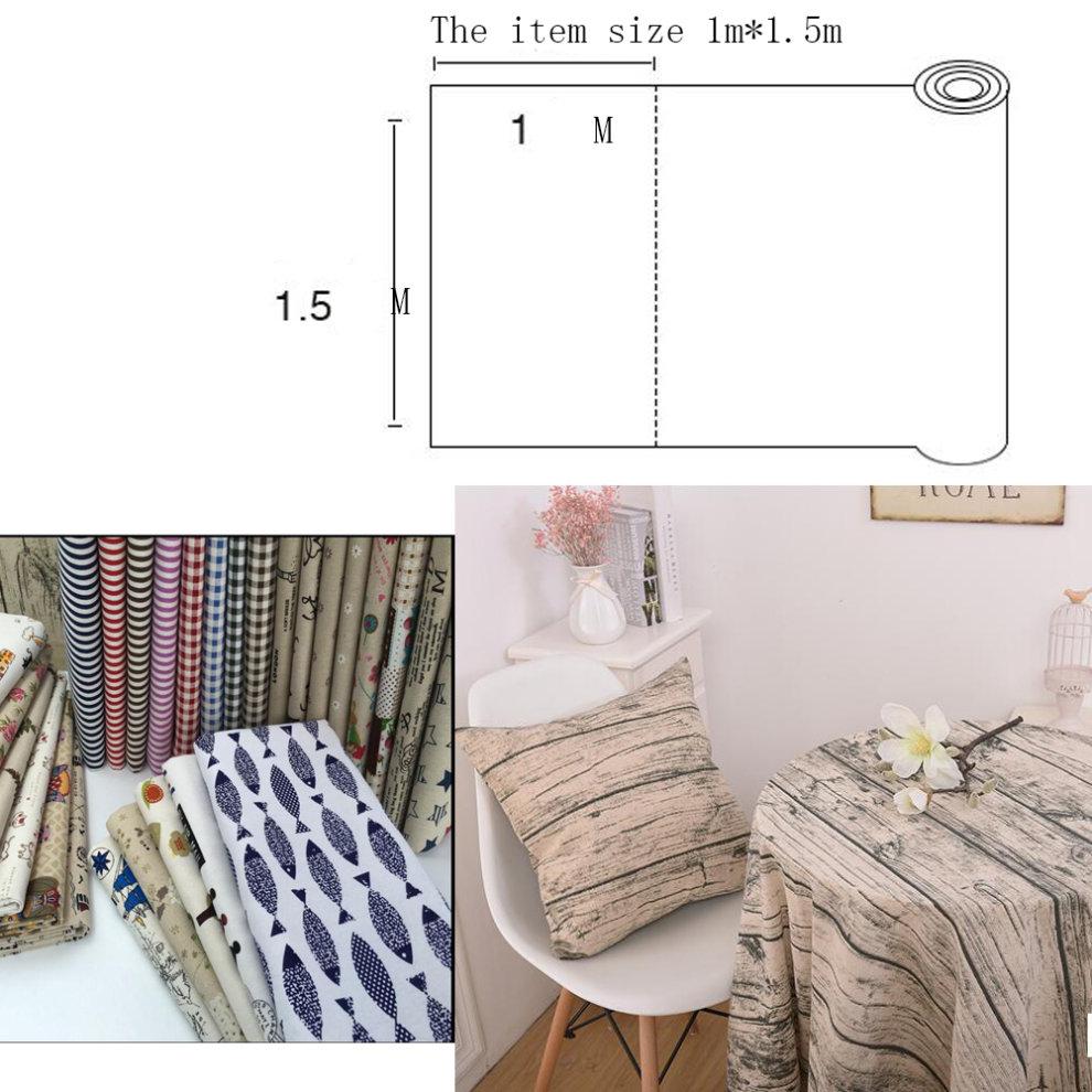 Linen Cloth Handmade Lovers Diy Sofa Cover Tablecloth Curtains A13