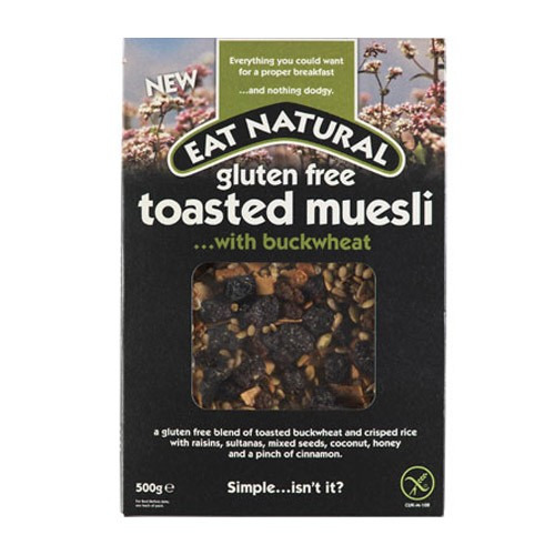Eat Natural Gluten Free Toasted Muesli ....with Vine Fruit 500