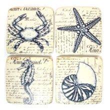 Ceramic Coasters Sea Creatures Designs