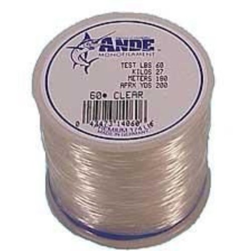 Ande A2-80C Premium Monofilament Fishing Line, 2-Pound Spool, 80-Pound Test, Clear Finish