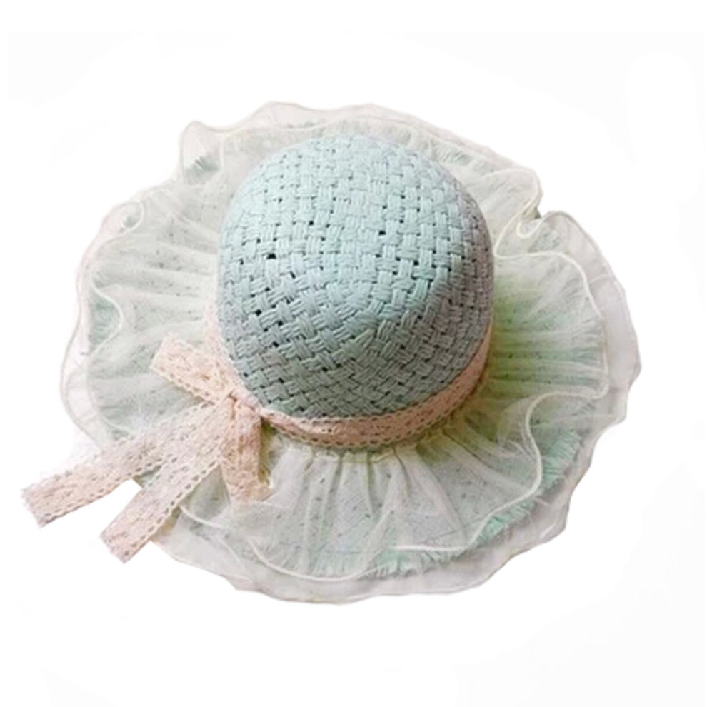 8a1d71e78a4 Children Princess Lace Bowknot Beach Hat Sun Hat Girls Hat