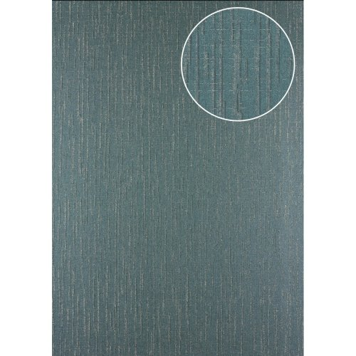 Atlas 24C-5057-3 Graphic wallpaper metallic highlights green silver 7.035sqm
