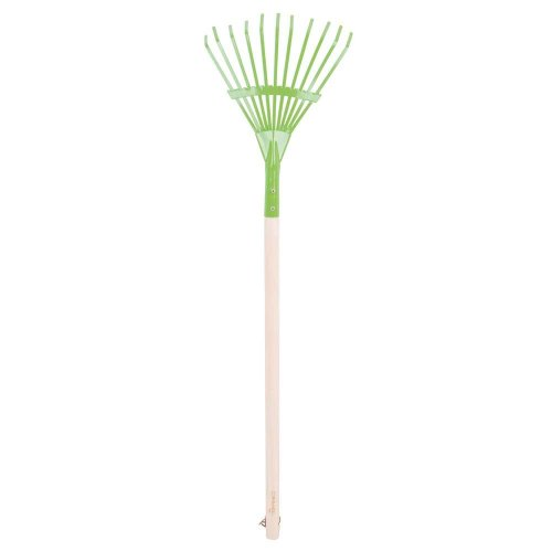Bigjigs Toys Children's Long Handled Gardening Leaf Rake with Wooden Handle - Garden Tools and Accessories