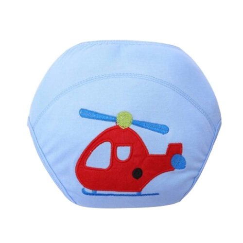 2 PCS Babies Diapers Newborn Baby Training Pants (Blue Plane Style)
