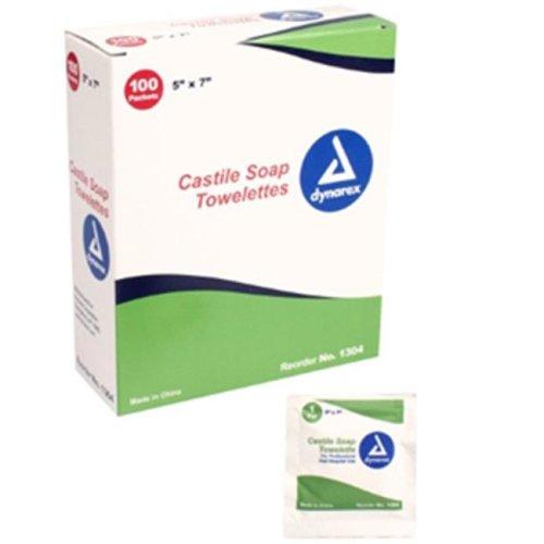 Dynarex 1304 Castile Soap Towelettes - 1000 per Case