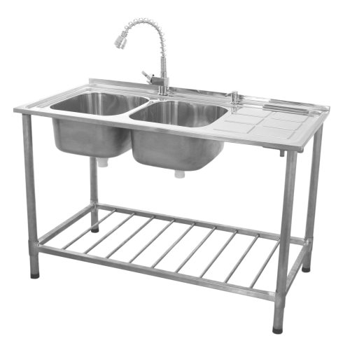KuKoo Catering Sink Stainless Steel Double Bowl