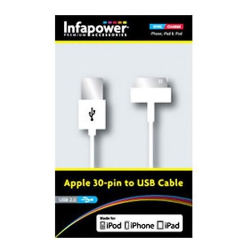 Infapower P010 Apple 30 Pin Sync Cable to USB Cable for iPhone, iPad and iPod