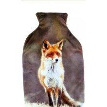 Ks Brands Hot Water Bottle - Fox/reindeer/penguin -  brand new ks brands arctic animal plush cover hot water bottle hh0246