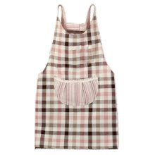 Japanese Style Thick Cotton & linen Cloth with Pocket Unisex Cooking lattice Aprons?red