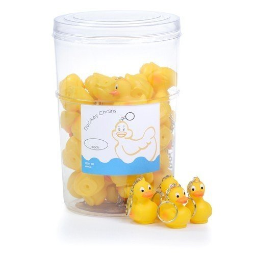 Essentials Rubber Duck Key Rings - Perfect for Hot Tub or Pool Keys (2 per set)