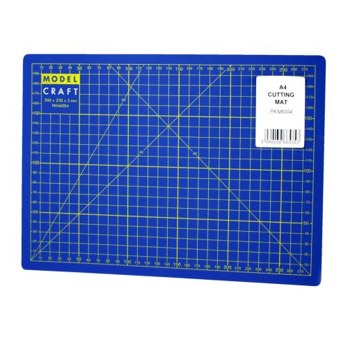 A4 Self-healing Cutting Mat -  cutting mat a4 modelcraft selfheal blue