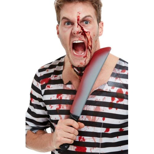 Blood Stained Sword Halloween Fancy Dress Accessory Fake Weapon
