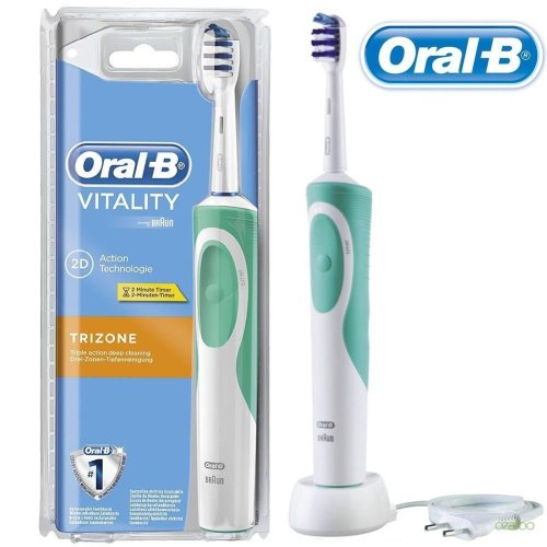 Oral-B Vitality TriZone Electric Rechargeable Power Toothbrush + 2 Minute  Timer on OnBuy 6d16cb1feb55