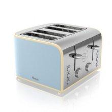 Swan 4 Slice Blue Toaster - Model No ST17010BLN