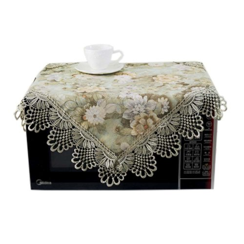 European Style Jacquard Microwave Oven Cover Dust-proof Cover, A