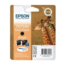 Epson Original T0711H High Capacity Black Ink Cartridge Twin Pack