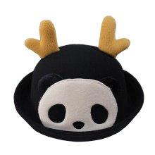 [Panda Black] Lovely Baby Woolen Bowler Hat Children Bucket Hat