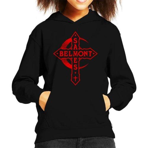 Castlevania Belmont Saves Cross Kid's Hooded Sweatshirt